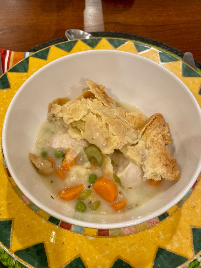 Bowl of Chicken Pot Pie