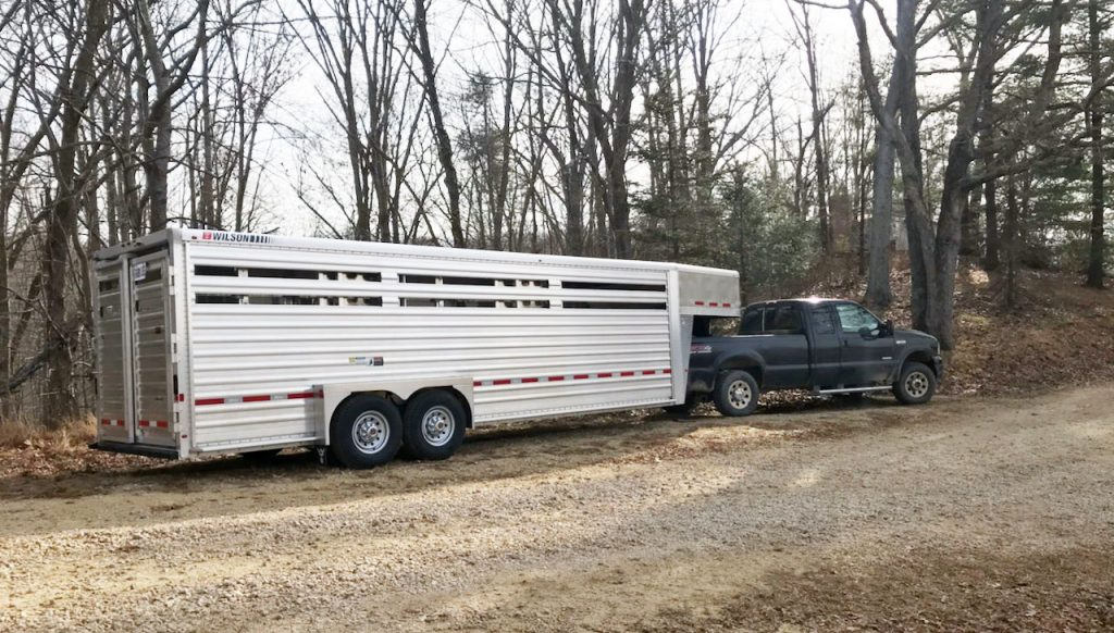 24-foot Wilson Cattle Trailer